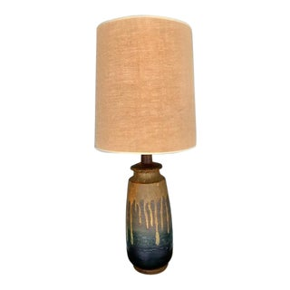 Mid-Century Modern Drip Glaze Ceramic Lamp For Sale