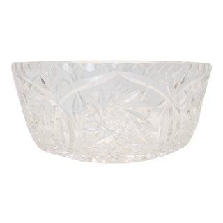 Vintage Brunswick Star Cut Crystal Bowl For Sale