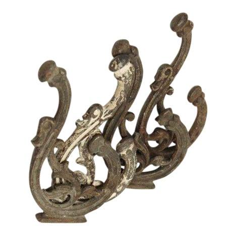Iron Bracket Double Hooks - Set of 4 - Image 1 of 4