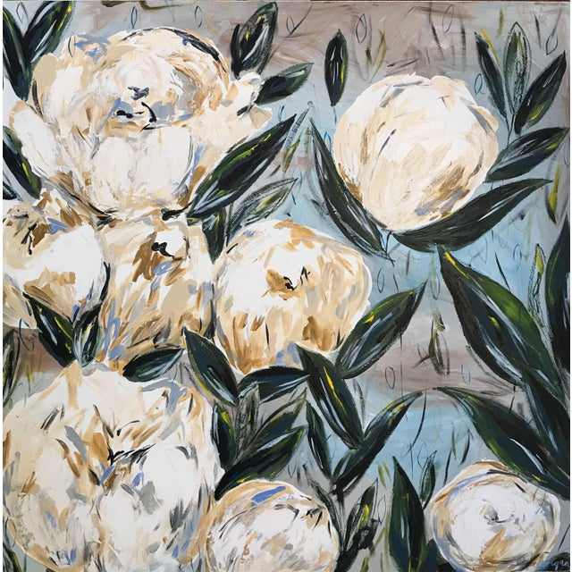 """Peonies for Carolina"" Original Painting - Image 3 of 3"