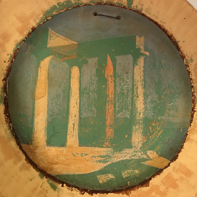 Early 20th Century Painted Roman Temple Plate For Sale - Image 5 of 7