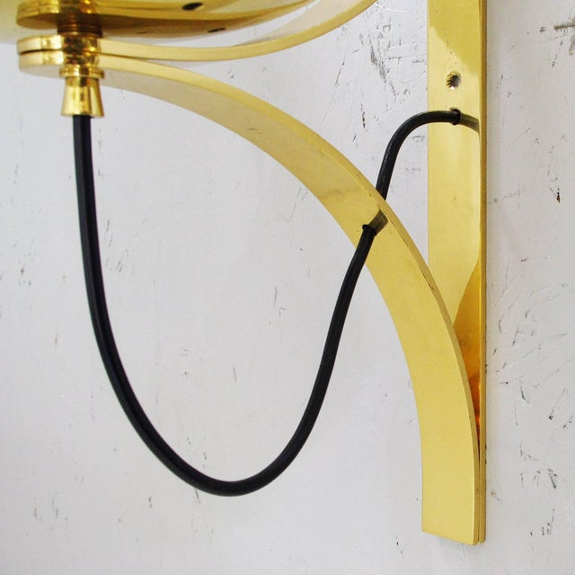 Gold Five Large Globe Sconces by Seguso For Sale - Image 8 of 12