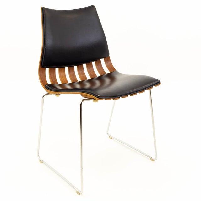 Brown Vintage Mid Century Hans Brattrud for Hove Mobler Teak Padded Scandia Chair For Sale - Image 8 of 8
