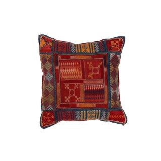Vintage Indian Banjara Needlework Pillow For Sale