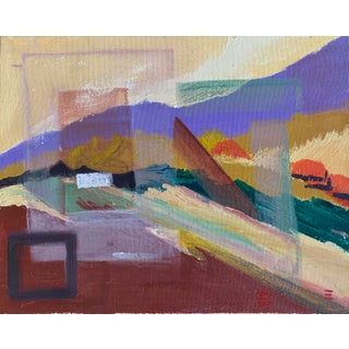 """2009 Abstract Oil Painting """"Hillside"""" For Sale"""