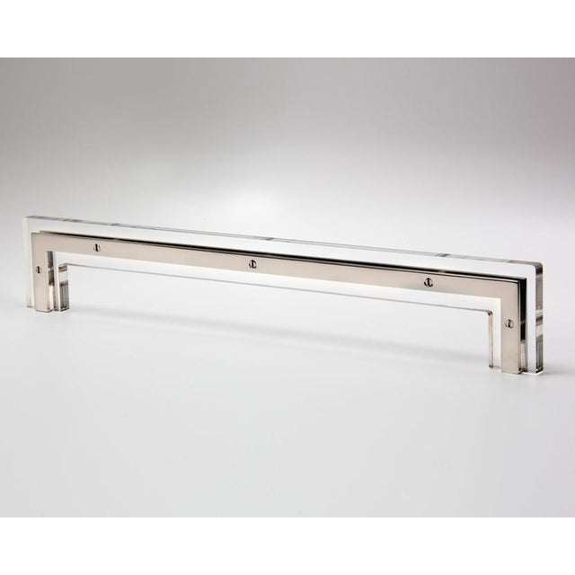 Contemporary Nest Studio Collection Transparency-01L Polished Nickel Handle For Sale - Image 3 of 3