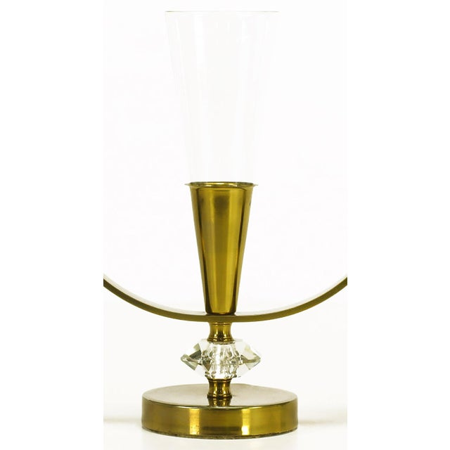 Pair of Brass and Crystal Candelabra - Image 5 of 6
