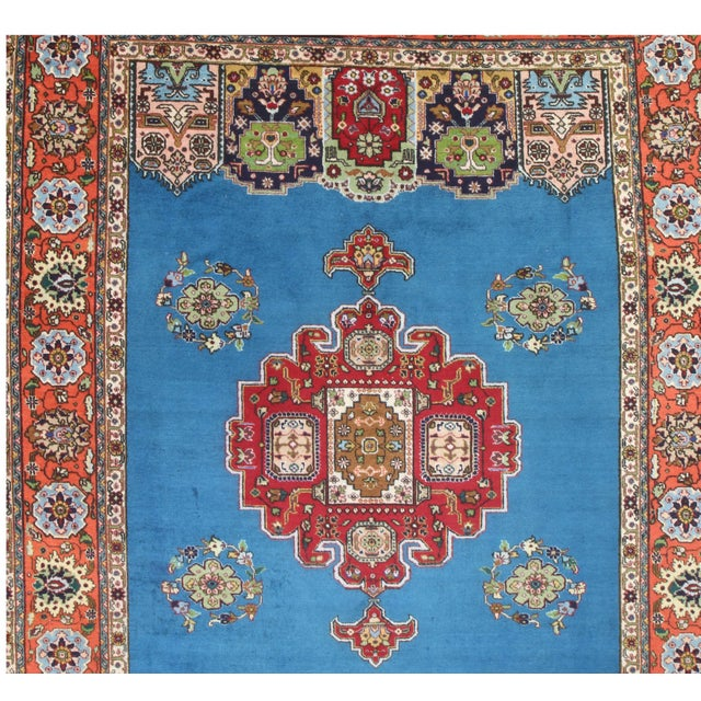 """Hand Knotted Wool Persian Tabriz Rug - 7'2"""" X 10' - Image 4 of 4"""