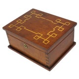 Image of 1907 Traditional Cherry Wood Sewing Box For Sale