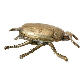 Vintage Brass Beetle Box For Sale