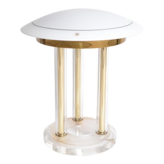 Peill & Putzler Brass, Lucite & Blown Glass Table Lamp Space Age 1970s Germany For Sale