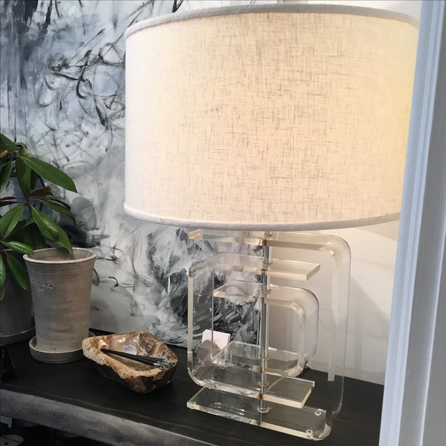 Vintage Lucite Lamp - Image 6 of 8