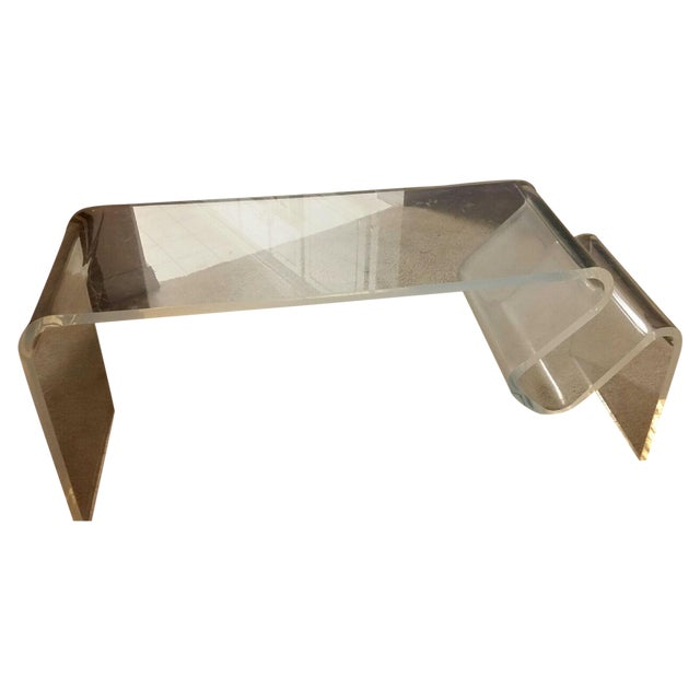 1970s Vintage Plexiglass Coffee Table - Image 1 of 3