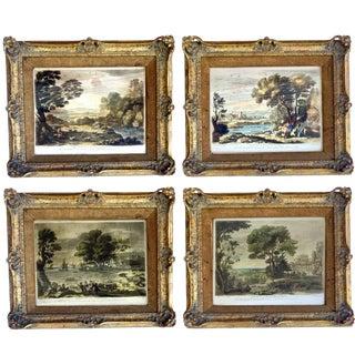 18th Century Antique Engravings after Claude Le Lorrain - Set of 4 For Sale