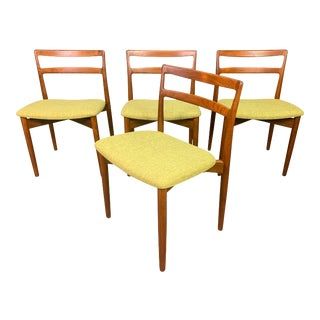 """Vintage Danish Mid Century Modern Teak Dining Chairs """"Model 61"""" by Harry Ostergaard for Randers For Sale"""