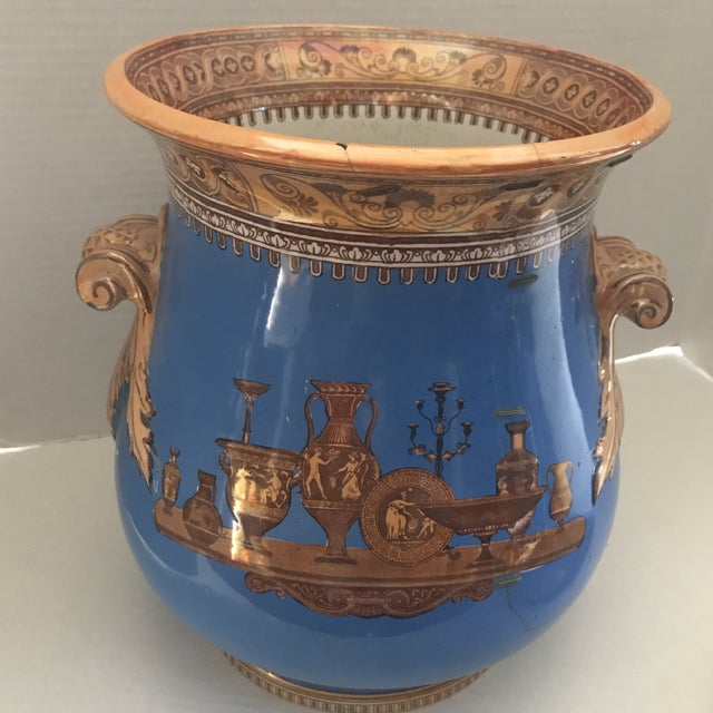 Striking Lusterware Cover Urn For Sale - Image 4 of 13