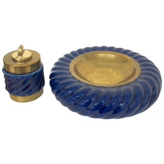 'Tomasso' Barbi Ashtray & Lighter Set For Sale