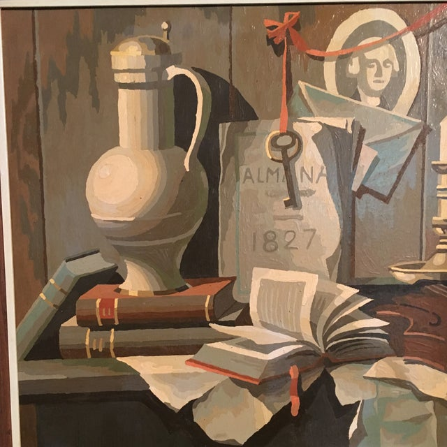1968 Still Life Paint by Number Framed Painting - Image 5 of 6