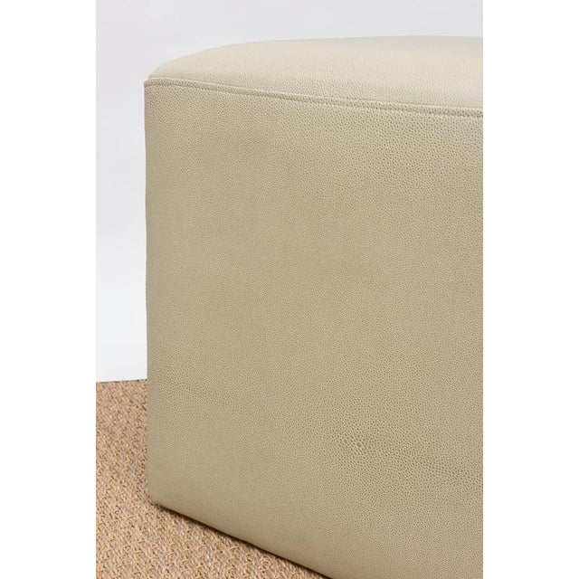 Ottomans in Faux Shagreen - Pair For Sale In Miami - Image 6 of 8