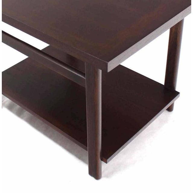 Mid-Century Modern Walnut Side Table For Sale In New York - Image 6 of 7