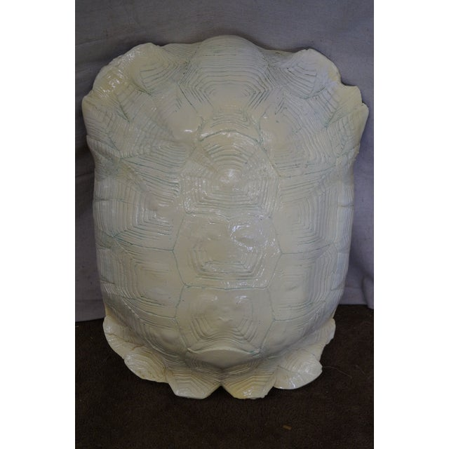 Mid-Century Faux Turtle Shell Wall Sculptures - A Pair For Sale - Image 9 of 10