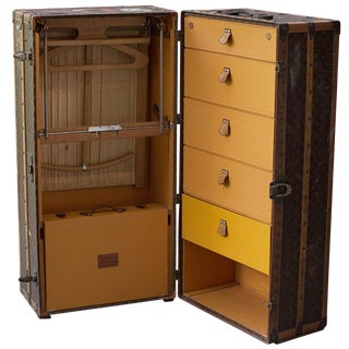 1920s Vintage Louis Vuitton Wardrobe Trunk