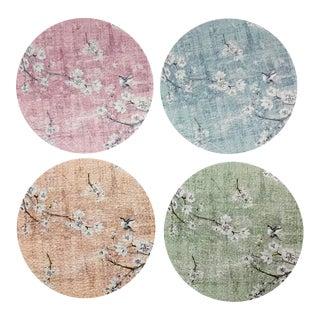 Blossom Fantasia Pastel Coasters, Set of 4 For Sale