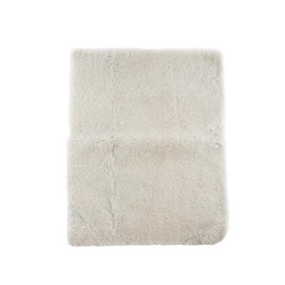"Kundalini Wool Genuine Pelt White Sheepskin Yoga Mat / Rug - 2'6""x3'5"""