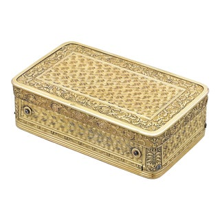 Silver-Gilt Musical Snuff Box by François Nicole For Sale