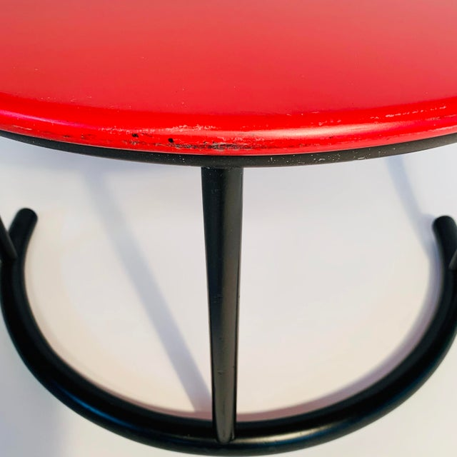 Gianfranco Frattini Demilune Side Table For Sale - Image 10 of 13