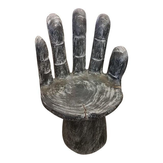 Black Teak Hand Shaped Chair - Image 1 of 6