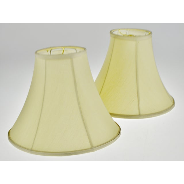 Vintage Bell Shape Fabric Lamp Shades - a Pair For Sale In Philadelphia - Image 6 of 13