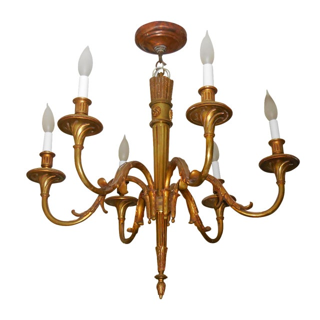 Antique Bronze French Chandelier - Image 1 of 11
