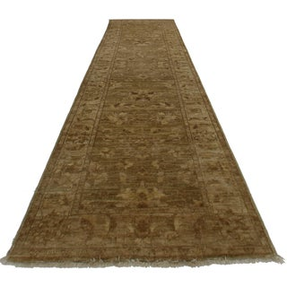 """RugsinDallas Oushak Style Hand-Knotted Wool Runner -2'5"""" X 9'8"""" For Sale"""