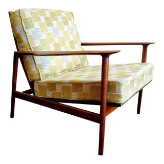 Danish Modern Ib Kofod Larsen Solid Teak Lounge Chair