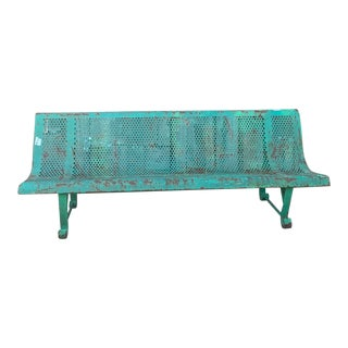 1940's Vintage French Garden Bench For Sale