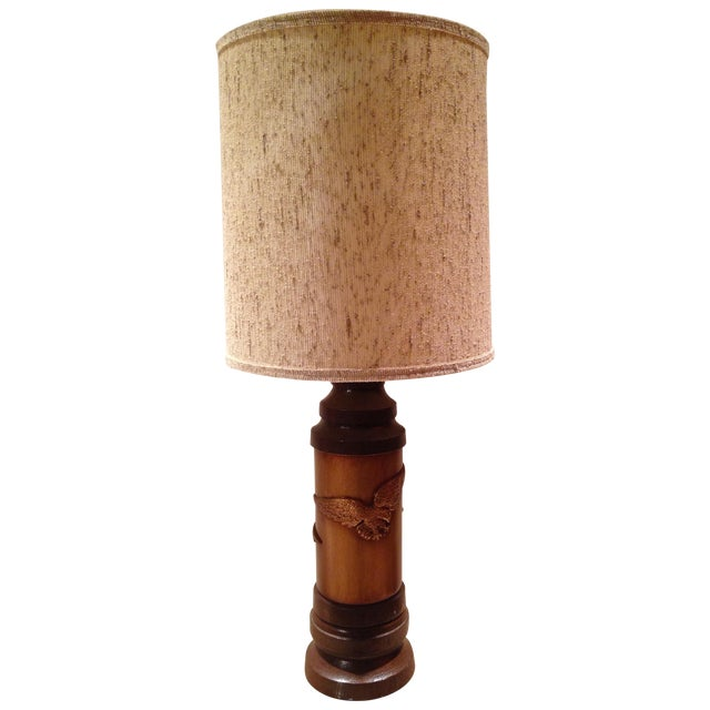 1970s Ceramic Eagle Table Lamp For Sale