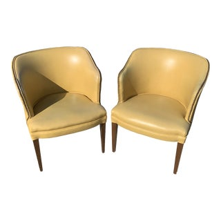 Mid-Century Modern Barrel Back Chairs - A Pair For Sale