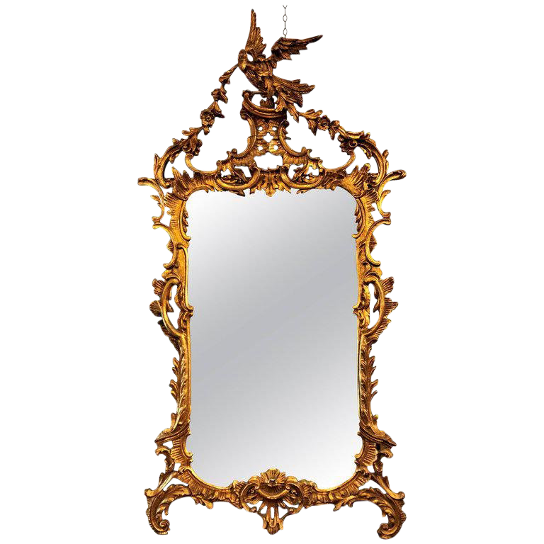 antique wall mirrors black large italian chippendale giltwood wall or console mirror vintage used mirrors for sale chairish
