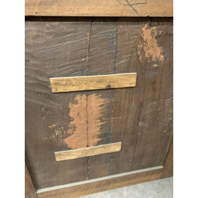 Late 18th C Antique French Oak Armoire Doors - a Pair For Sale - Image 11 of 13