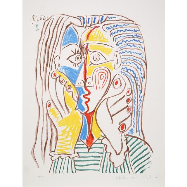 Pablo Picasso, Visage 3, Lithograph For Sale