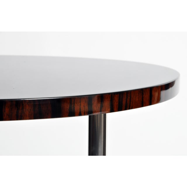 Contemporary Round Mid-Century Style Tables - a Pair For Sale - Image 9 of 11