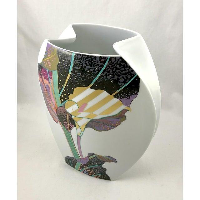 1980s Rosenthal Porcelain Brigitte Doege Calla Lily Vase For Sale - Image 5 of 10