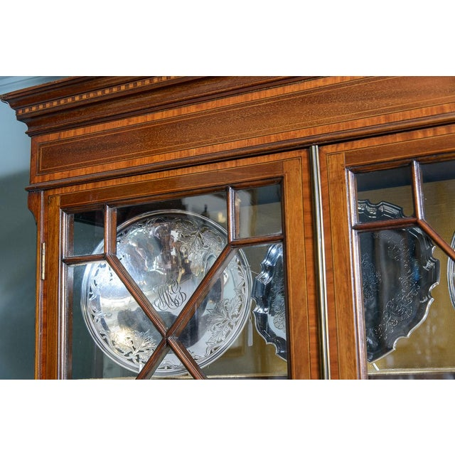 English Vitrine Cabinet For Sale - Image 9 of 10