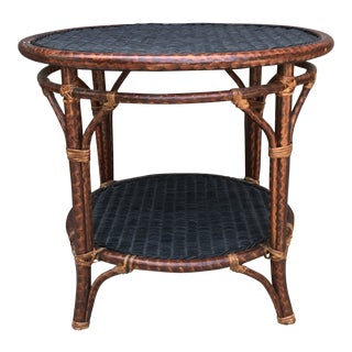 Palecek Two Tier Side Table End Table For Sale