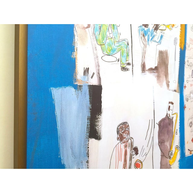 """1990s Jean Michel Basquiat Rare Vintage 1997 Framed Lithograph Fine Art Print """" Worthy Constituents """" 1986 For Sale - Image 5 of 13"""