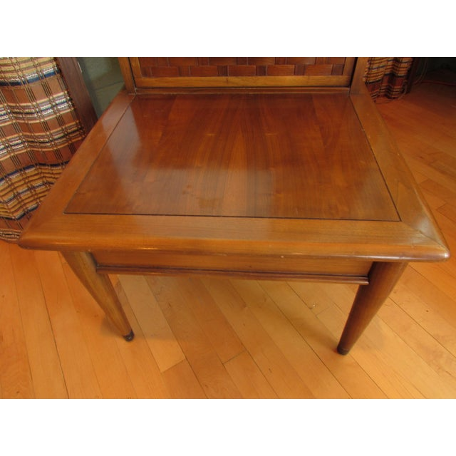 Mid-Century Walnut Two-Tiered End Table - Image 7 of 8