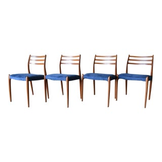 1960s Niels Moller Model 78 Teak Dining Chairs- Set of 4 For Sale