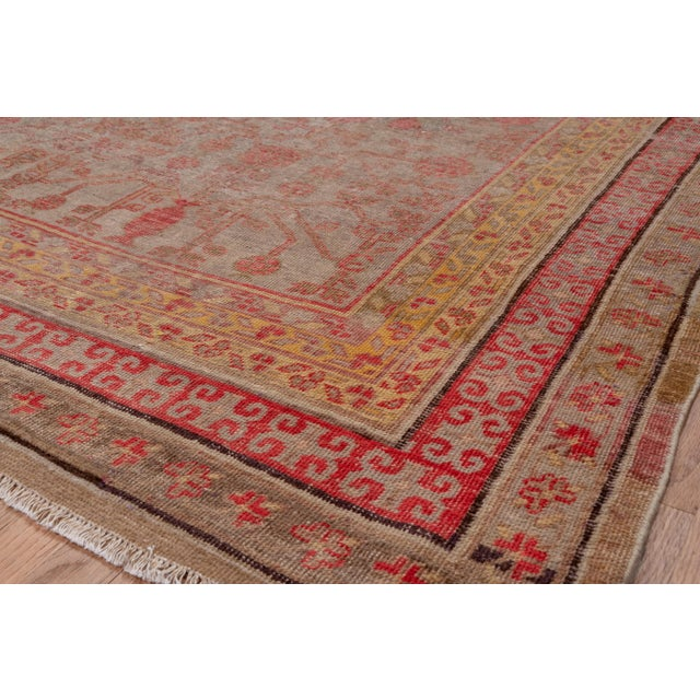 Boho Chic Colorful Khotan Gallery Carpet - 6′8″ × 13′4″ For Sale - Image 4 of 9