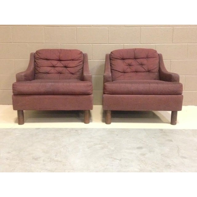 Selig Low Lounge Chairs - A Pair - Image 4 of 7